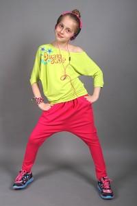 dancekleidung.de - Angebote: TANZ HOSE MADOX KIDS Rosenrot