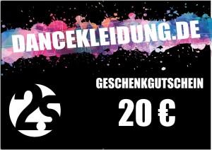 dancekleidung.de - Angebote: Geschenkgutschein 20€