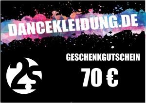 dancekleidung.de - Angebote: Geschenkgutschein 70€