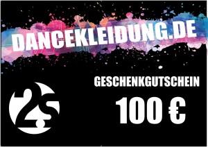 dancekleidung.de - Angebote: Geschenkgutschein 100€