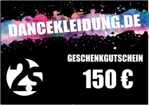 dancekleidung.de - Angebote: Geschenkgutschein 150€