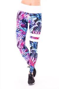 dancekleidung.de - Angebote: SPORT LEGGINGS BLUE TROPICANA