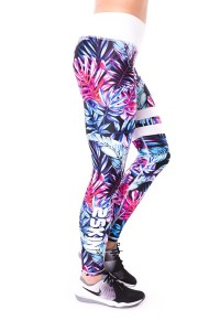 SPORT LEGGINGS BLUE TROPICANA