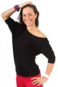 dancekleidung.de - Angebote: TANZ T-SHIRT SPONTANIC Schwarz