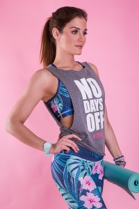 dancekleidung.de - Angebote: DAMEN TOP NO DAYS OFF Grau