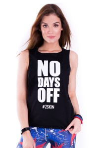 DAMEN TOP NO DAYS OFF Schwarz