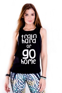 DAMEN TOP TRAIN HARD black