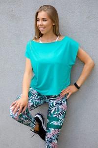 dancekleidung.de - Angebote: TANZ T-SHIRT SENSUAL dark mint